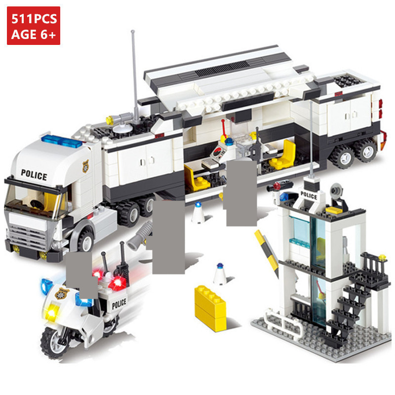 511Pcs City Police SWAT Truck Mode Building Blocks Sets Figures Friends Creator LegoINGLs Bricks Educational Toys for Children
