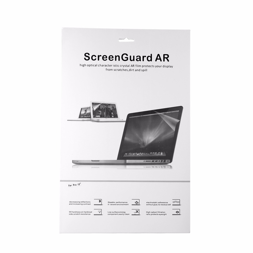 Ultra-thin Crystal Clear Film Screen Guard Protector Laptop Cover For Macbook Mac Pro 13.3 inch