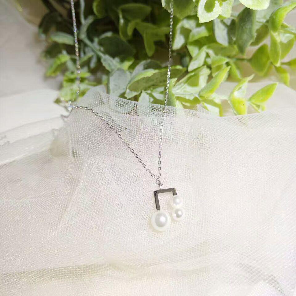 Drop Shipping Gold Color Chain Necklaces Pearl Pendants&Necklaces Jewelry Collar Colar de Plata