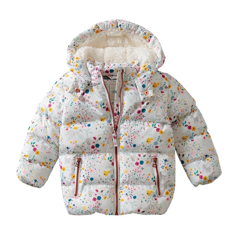 Autumn Winter new baby girl cotton coat girl plus velvet Warm Hooded jacket Children Outerwear Coat Girls Clothes girls coat down winter jacket for girl children outerwear