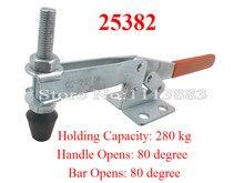 2PCS Holding Capacity 280KG 618LBS Horizontal Handle Toggle Clamp 25382