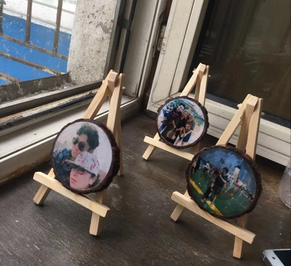 2017 New Unicorn Party Photo Transfer To Wood, Picture On Personalized Wedding Favors, Anniversary Gifts For Men, Wood Frame