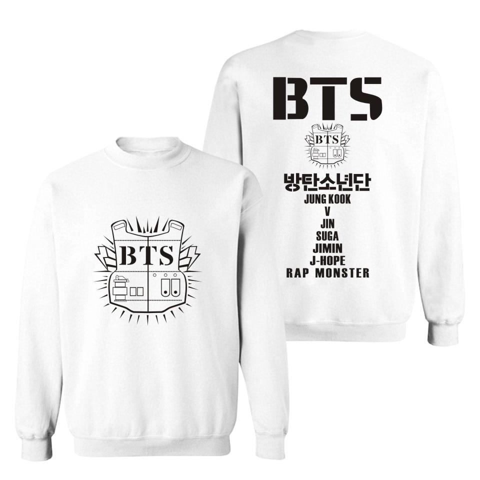 Trendy BTS Bangtan Boy Group Fans Kpop Women/Men Turtleneck Sweatshirt Comfortable Four Seasons Light Hoodies Unisex BTS Letter