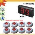 433.92 мГц из светодиодов экран беспроводная система пейджер 99 S w 1 шт. беспроводной официант и 8 шт. звонков зуммер K-99S + O1
