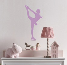 Elegant Sportswoman Wall Decal Skating Skater Ice Dancing Vinyl Stickers Houseware High Quality Removable SYY234