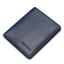 NewBring cartera multifuncional de cuero para hombres, Mini billetera de identificación, dinero, tarjeta de crédito, monedero, hombre