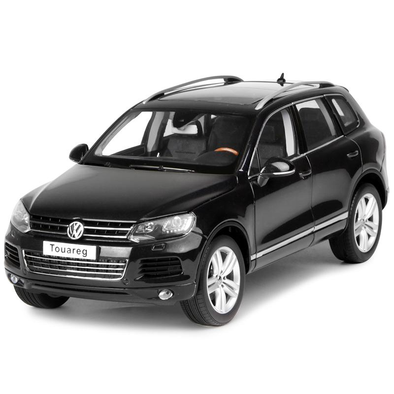 1:18 Diecast Model for Volkswagen VW Touareg 2010 Black SUV Alloy Toy Car Miniature Collection Gifts T2 масштаб 1 18 vw volkswagen sagitar 2012 diecast модель автомобиля черный