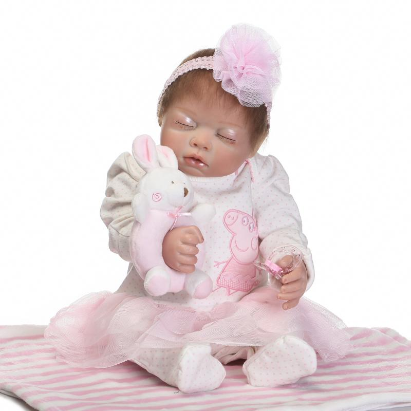 NPK Real dolls 50cm Full silicone body reborn baby dolls lifelike girl fake baby child bonecas 20inch baby reborn dolls for saleNPK Real dolls 50cm Full silicone body reborn baby dolls lifelike girl fake baby child bonecas 20inch baby reborn dolls for sale
