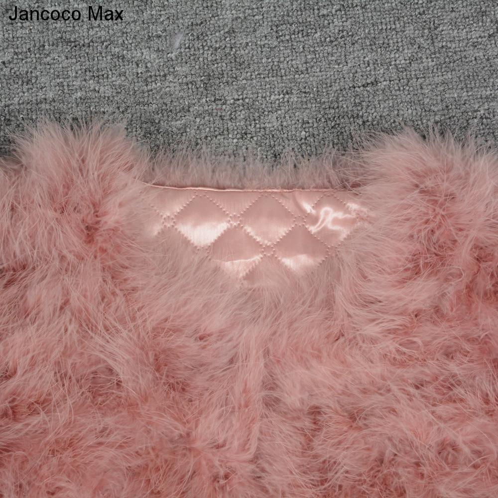 Jancoco Max S1002 Moterys 2019 Nekilnojamasis kailių paltas Tikras - Moteriški drabužiai - Nuotrauka 5