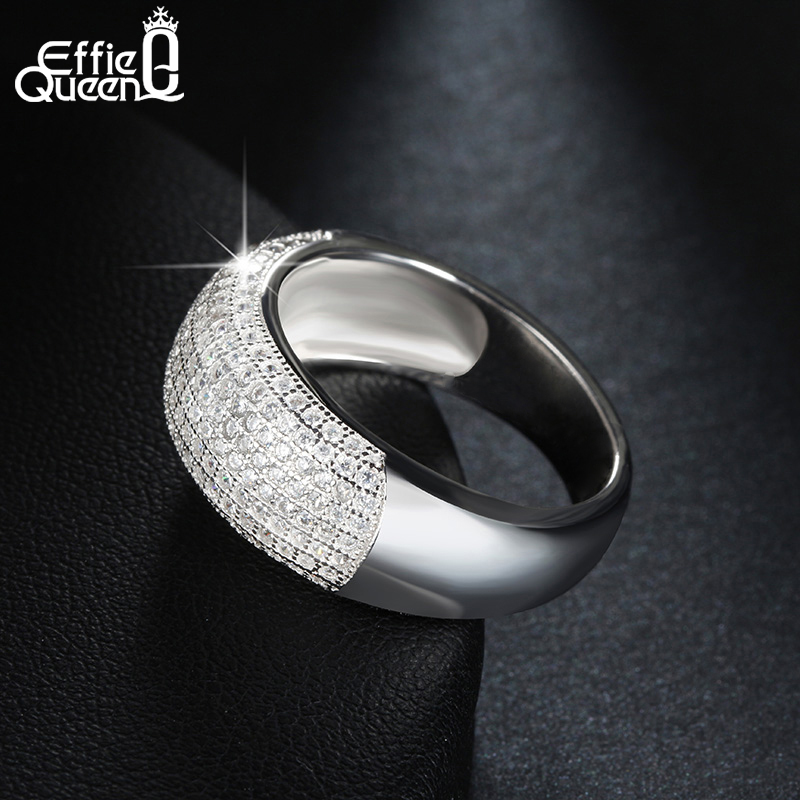 Effie Queen Әйелдер үйлену тарту Finger Ring Trendy - Сәндік зергерлік бұйымдар - фото 3