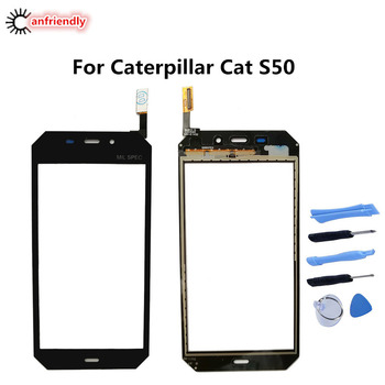 5PCS/Lot For Caterpillar Cat S50 S 50 Touch Screen Replacement Touch Panel Phone Accessories repair For Caterpillar Cat S50 S 50