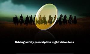 Image 2 - BCLEAR 1.49 ראיית לילה מקוטב צהוב קוצר ראייה עדשת נהג בטוח נהיגה מיוחד עדשה מותאם אישית מרשם diopter עדשות