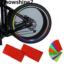 snowshine2 #3001 Wheel Reflective Car Motorcycle Rim Sticker,WHEEL Rim Stripe Decal sticker,Water Bicycle Accessories