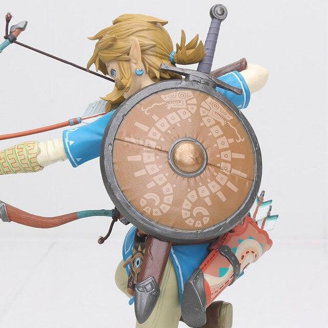 big size Link Zelda Legend of Zelda Breath of the wild Sky Ward Game Toy Zelda Sword Link Figma pvc action Figure toys 4