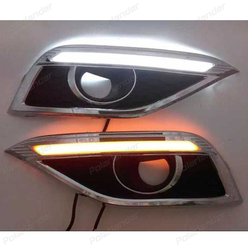 Car styling daytime running lights  for H/onda C/RV 2012-2015 FOG LAMPS daytime running lights car styling for h onda c ivic 2011 2015 auto drl fog lamps