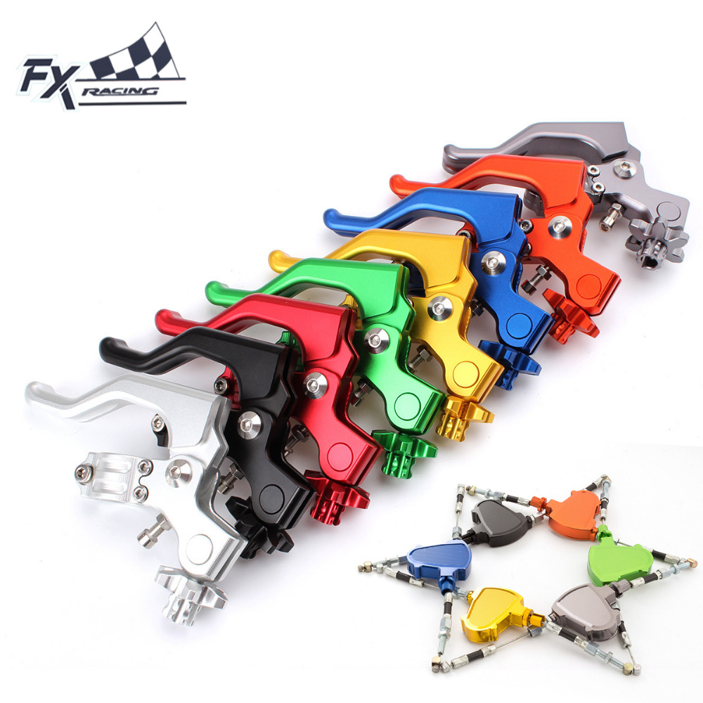 FXCNC 7/8 22mm Motorcycle Dirt Stunt Clutch Lever Pull Cable System For Suzuki RM65 RM85 RMZ250 RM125 RM250 RMZ450 2004 - 2016 cnc front brake line hose clamps holder for suzuki rm85 rm125 rm250 rmz250 rmz450 rmx450z drz400sm motorcycle