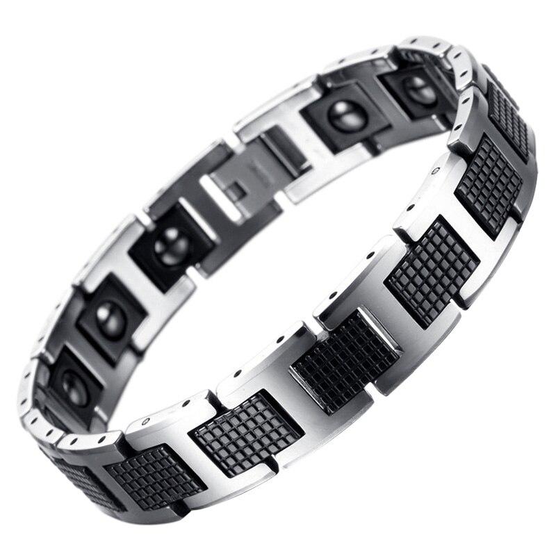 KLEINER FROSCH Neue Mode Männer Schmuck Gesunde Energie Magnet Armband Mit Tungsten Magnetische Hämatit Charme Armbänder Armreifen