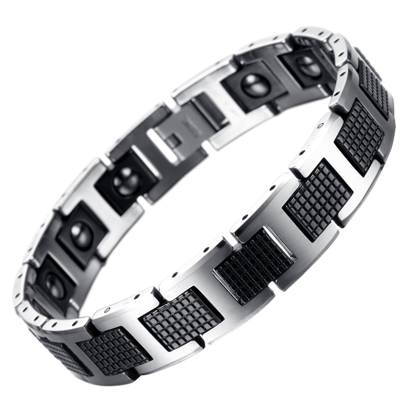 LITTLE FROG New Fashion Men Jewelry Healthy Energy Magnet Bracelet With Tungsten Magnetic Hematite Charm Bracelets Bangles