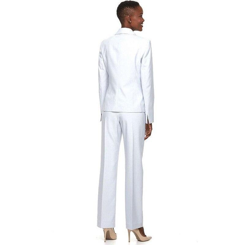 Custom Vêtements Atteint Pour Trois Pantalons Picture Made D'affaires Smokings Revers Costumes Slim Blanc De As Un Femmes Boutons Sommet A 67vPqBqwY