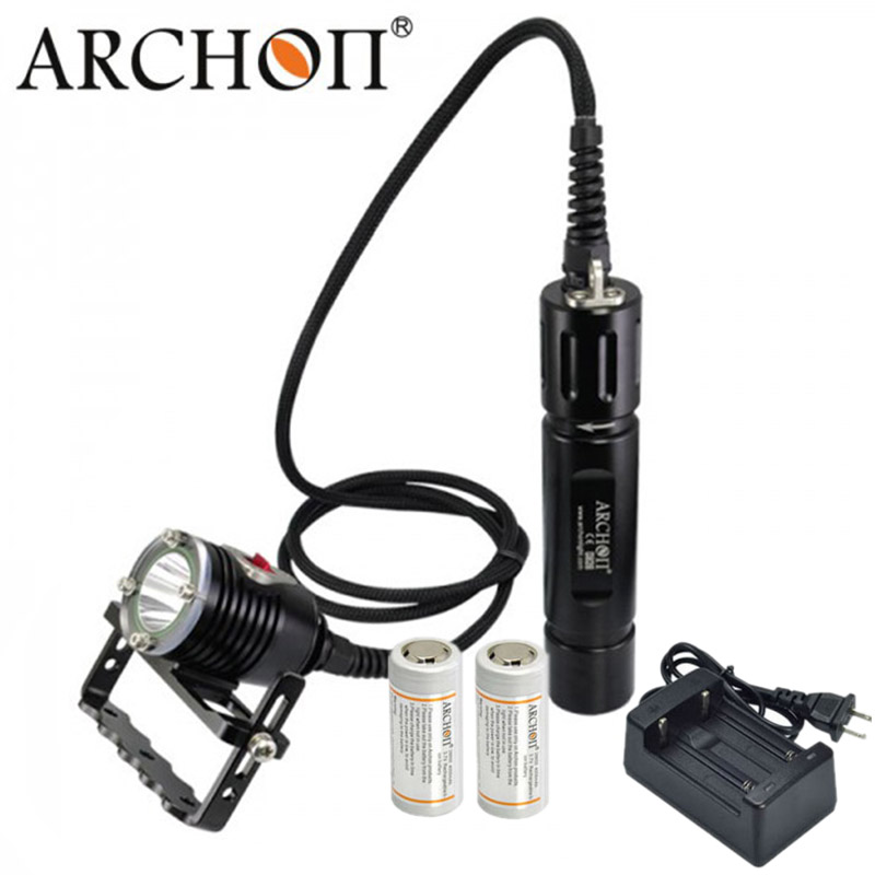 ARCHON DH26 WH32 Diving Flashlight Canister lantern Underwater Light Lamp Torch CREE XM-L2 U2 LED 26650 Battery 2m 20mm diameter spiral wire organizer wrap tube flexible manage cord for pc computer home bundling hiding cable w clip white