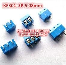 Envío gratis 10 UNIDS KF301-3P 5.08mm 3 Pin Terminal de Conexión por Tornillo Conector