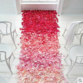 200pcs Rose Petals For Wedding Decoration 16 Color Cheap Artificial Polyester Flowers Birthday Party Decoration Rose Petals
