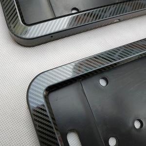 Image 3 - Porte plaque dimmatriculation, cadre de numéro, plaque dimmatriculation, couvercle, couleur métallique en fibre de carbone