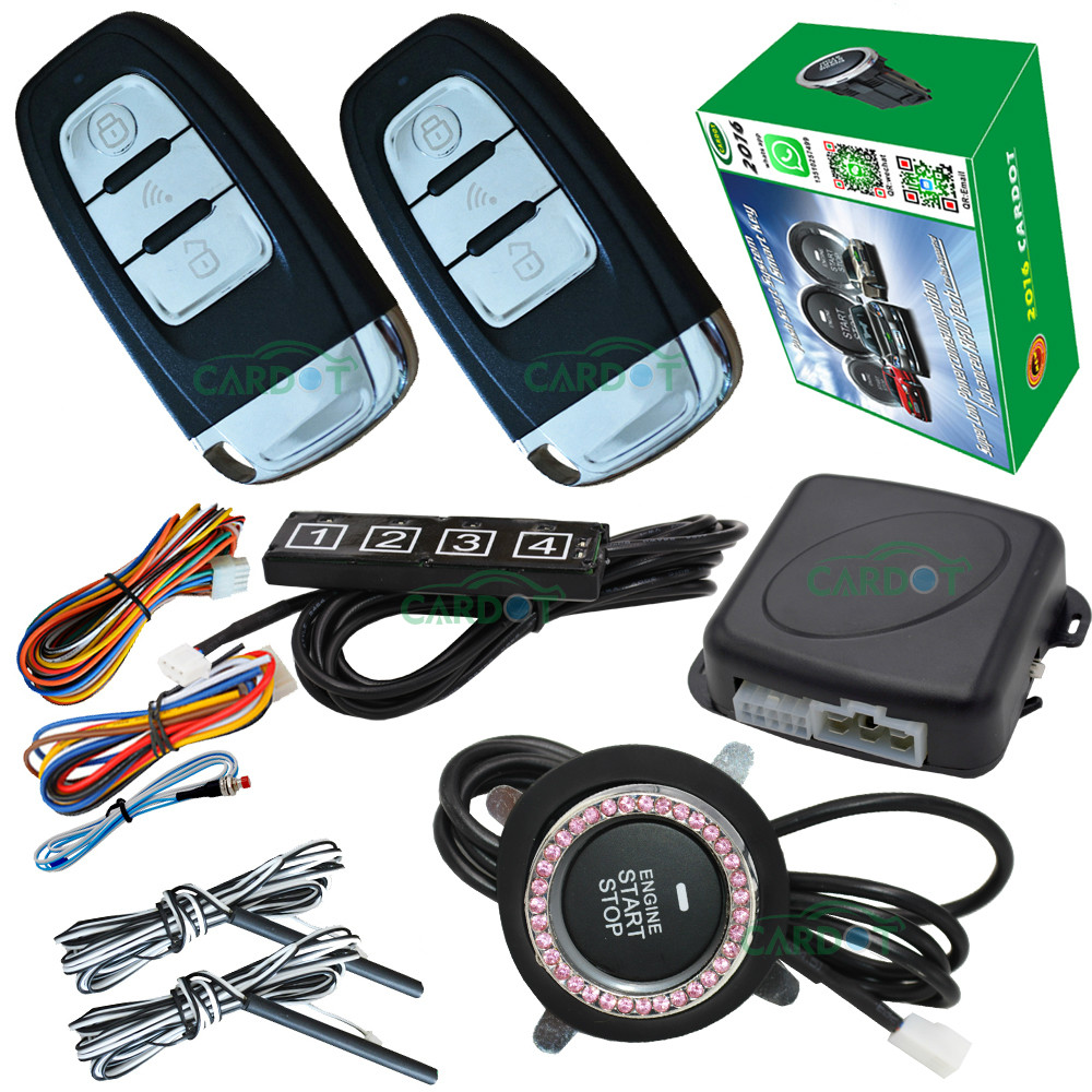 passive keyless entry&push button stop start engine system smart key identification recognized remote start stop engine alarm easyguard pke car alarm system remote engine start stop shock sensor push button start stop window rise up automatically