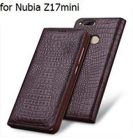 Fashion Genuine Leather Phone Case For Nubia Z17mini Flip Phone Bags Covers For ZTE Nubia Z17