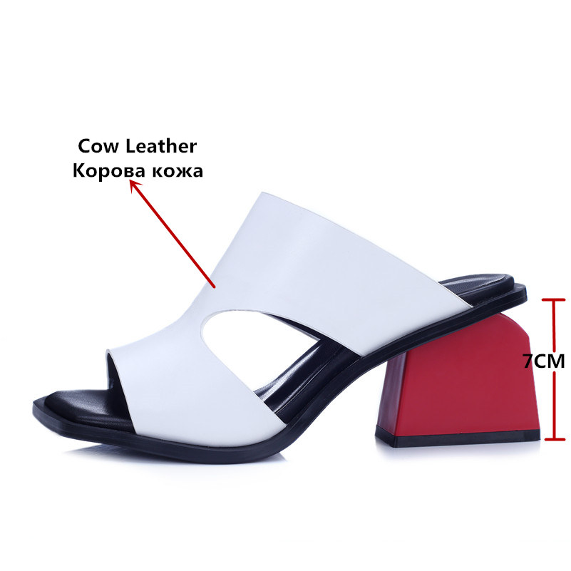 FEDONAS 2020 Women Platform Sandals Cow Leather High Heels Sandals Summer Female Rome Style Casual Shoes Woman New Sandals-in High Heels from Shoes    2
