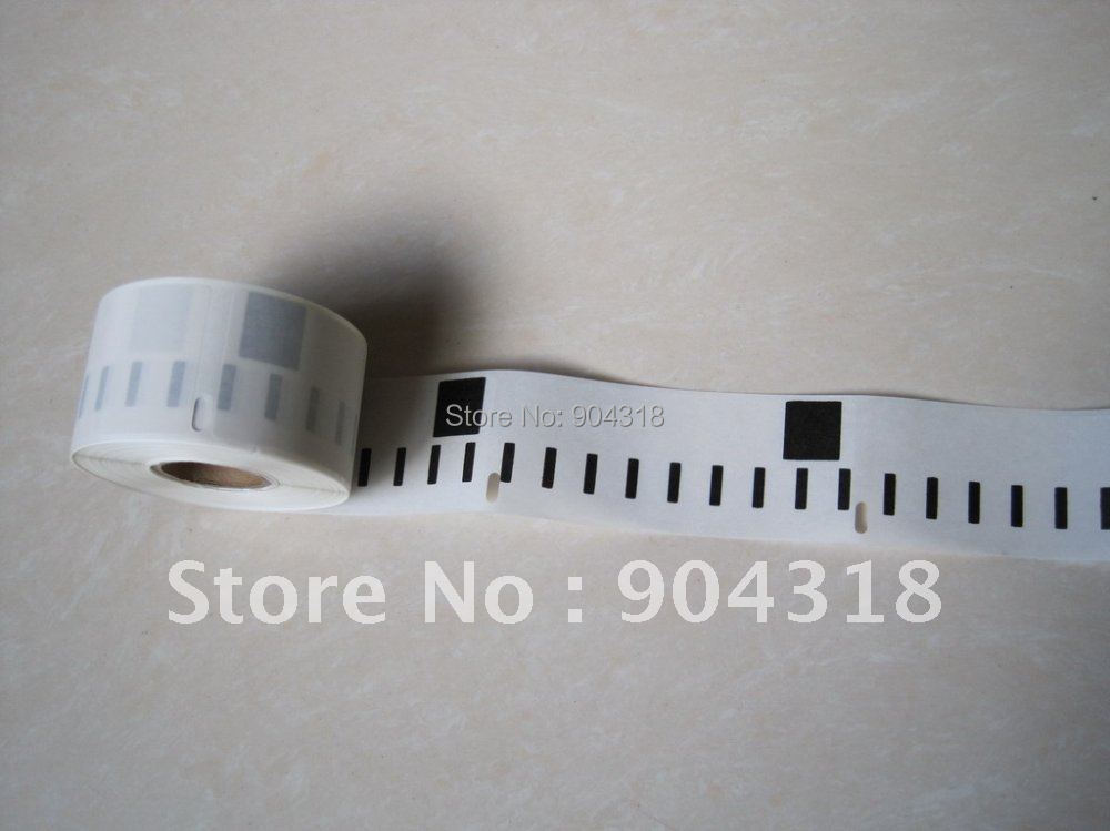 6 x Rolls Dymo labels 99013,  Label size: 36x89mm, 260 labels per roll, Plastic Clear Address Labels