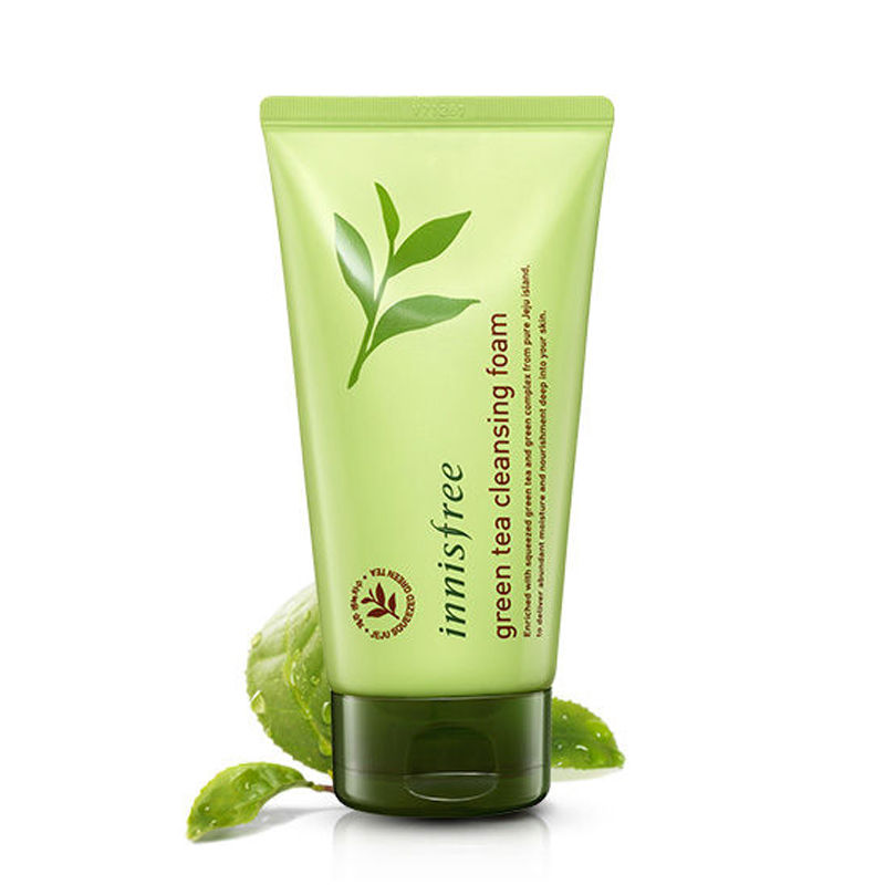 Korea Cosmetic Green Tea Foam Cleanser 150ml Face Cleanser Shrink Pores Remove Blackhead Facial Cleanser Moisturizing Skin Care