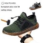 <+>  Европейский плюс размер 48 защитная обувь стальной носок летом дышащая легкая противоударная ударопр ✔