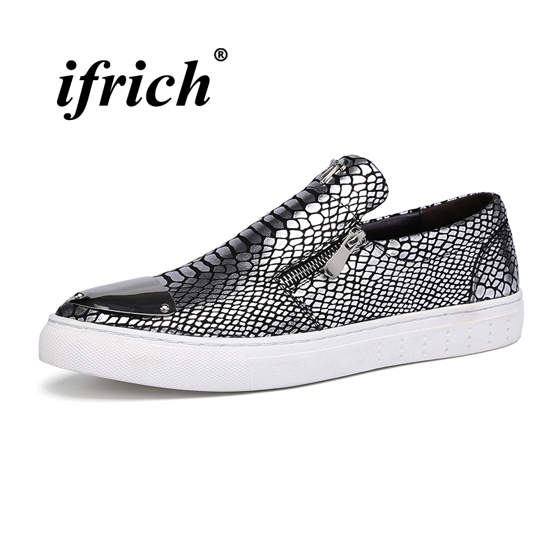 2018 Flat Shoes for Male Comfortable Leather Man Loafers Flat Sneakers Black Silver Men Casual Shoes Slip-on Mens Loafers цены онлайн