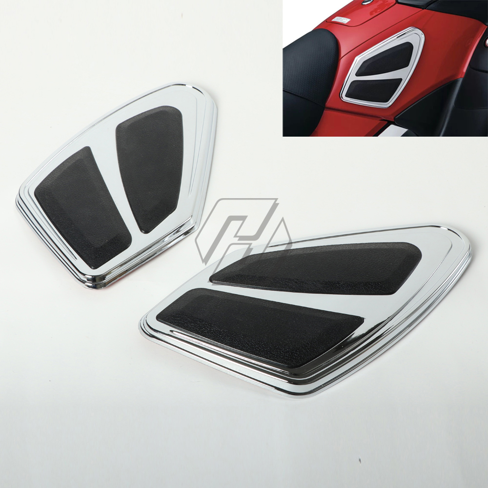 chrome Motorcycle tank guard trim cover case for HONDA Goldwing 1800 GL1800 F6B 2012 2017