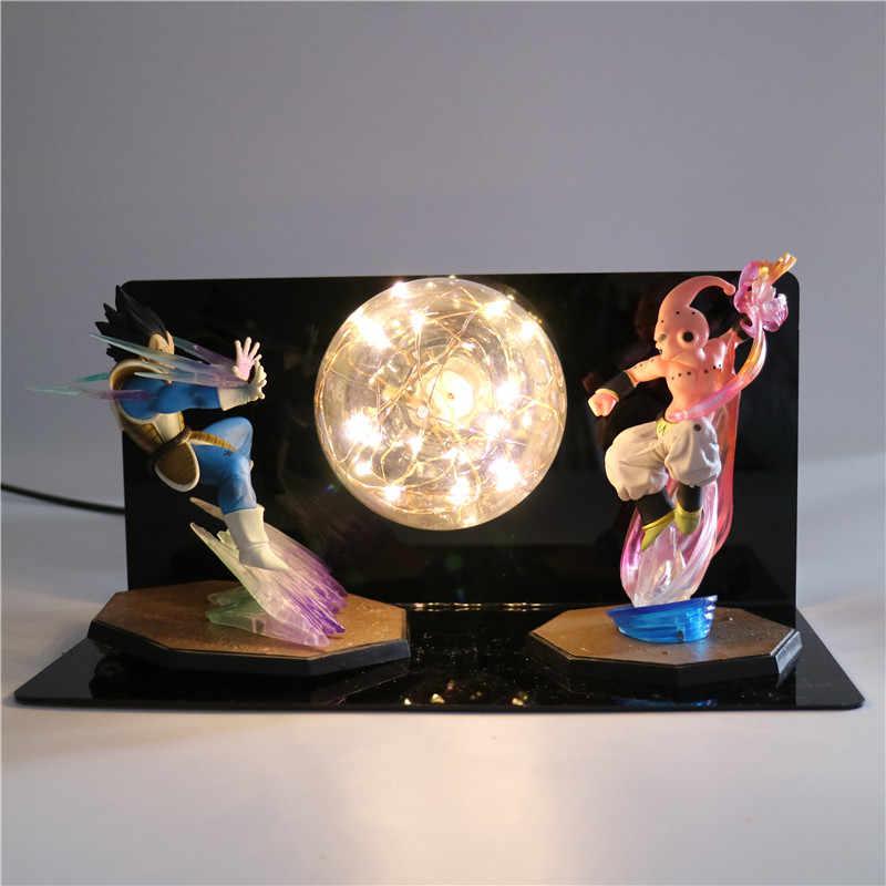 Super Dragon Ball Z Goku Figuras de Ação DIY Luz CONDUZIDA Da Noite quarto Do Bebê Da Lâmpada Presentes Anime Modelo Brinquedos Para Meninos Luzes Criativas