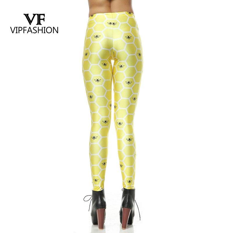 Vip Fashion New Autumn Gradient Yellow Print Womens Tights Bee