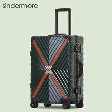 "Sindermore 20 ""24"" 26 ""29"" Marco de aluminio Carry On Rolling Hardside Trolley maleta de equipaje de viaje Maleta de equipaje de viaje"