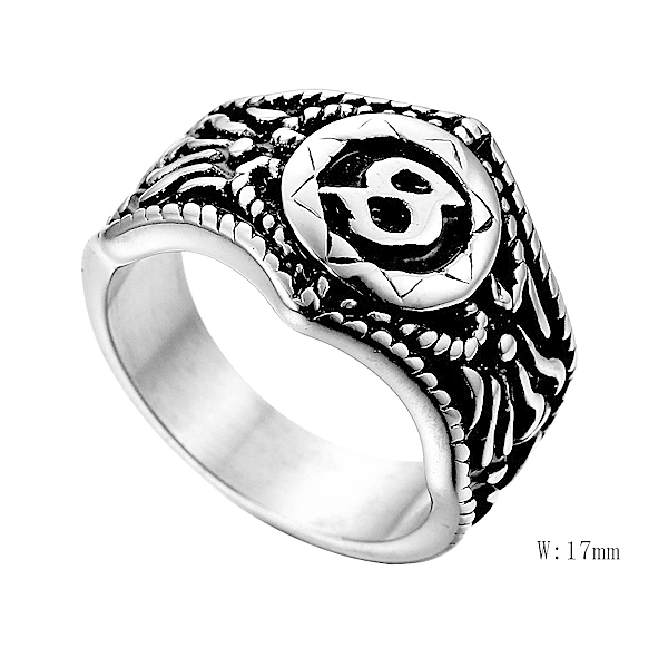 V-98 High Quality 316L Stainless Steel Fashion Ring Wholesale Men/Women Gift Jewelry Finger Ring Lover Couple Ring