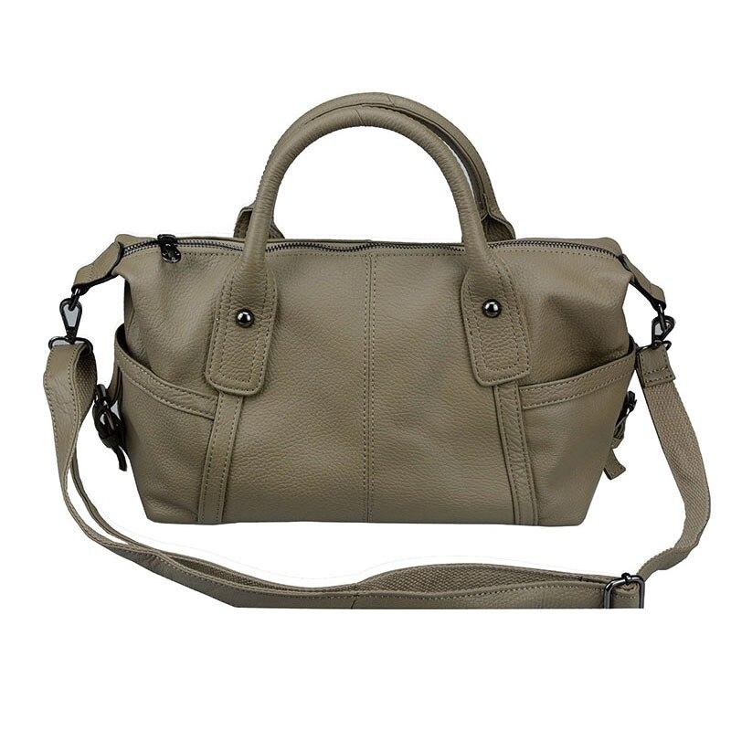 Dreamlizer LUXURY Genuine Leather Women Shoulder Bag Brand Designer Cowhide genuine leather handbags Skin Crossbody bag Handbags in Shoulder Bags from Luggage Bags