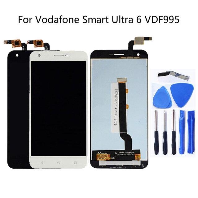 Para a Vodafone Inteligente Ultra 6 VDF995 VF995 VF 995N VF995N Kit Display LCD Completa com Digitador Da Tela de Toque Frete Grátis