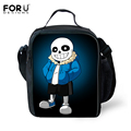 FORUDESIGNS Cartoon Undertale Lunch Bags for Kids Children Fashion Insulated Lunchbox Bags Men Picnic Food Bags Thermal Bolsa