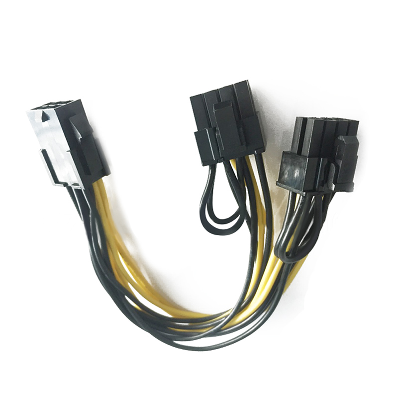 CPU 6 Pin To Graphics Video Card  PCI Express Power Splitter Cable 6Pin Female Double 8Pin Male EM88 8pin to graphics video card double pci e 8pin 6pin 2pin splitter cable power supply cable for connecting to video cards 30cm