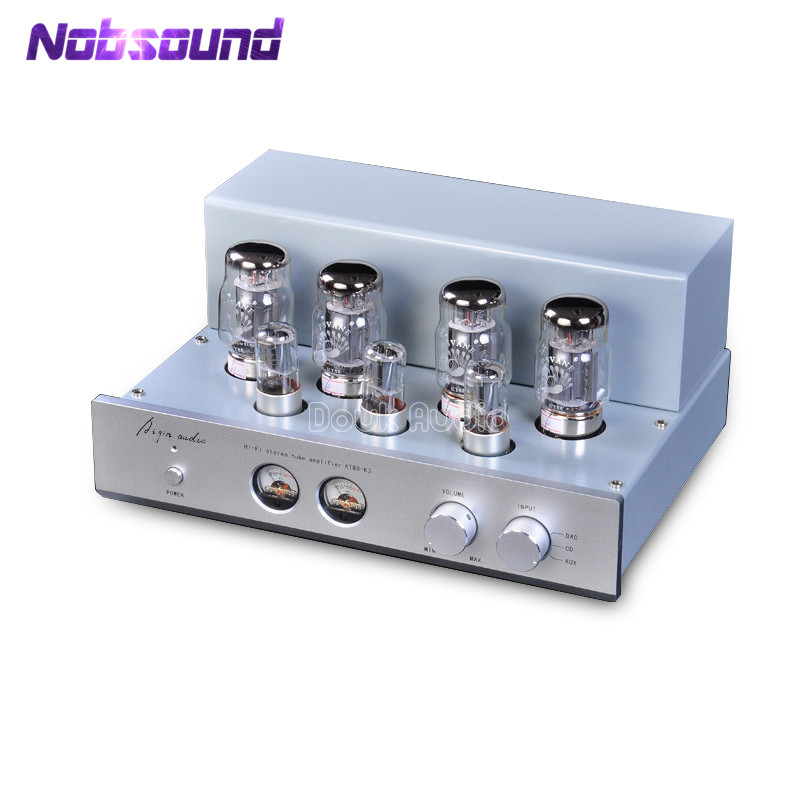 2018 Latest Nobsound Hi-end 6N8P Push-Pull PSVANE KT88 Valve Tube Amplifier HiFi Stereo Class A Large Power 45W*2 Amplifier music hall latest muzishare x7 push pull stereo kt88 valve tube integrated amplifier phono preamp 45w 2 power amp
