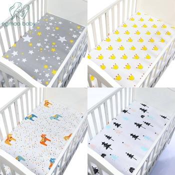 Baby Bed Wieg.100 Katoenen Beddengoed Wieg Hoeslaken Zachte Baby Bed Matras Cover