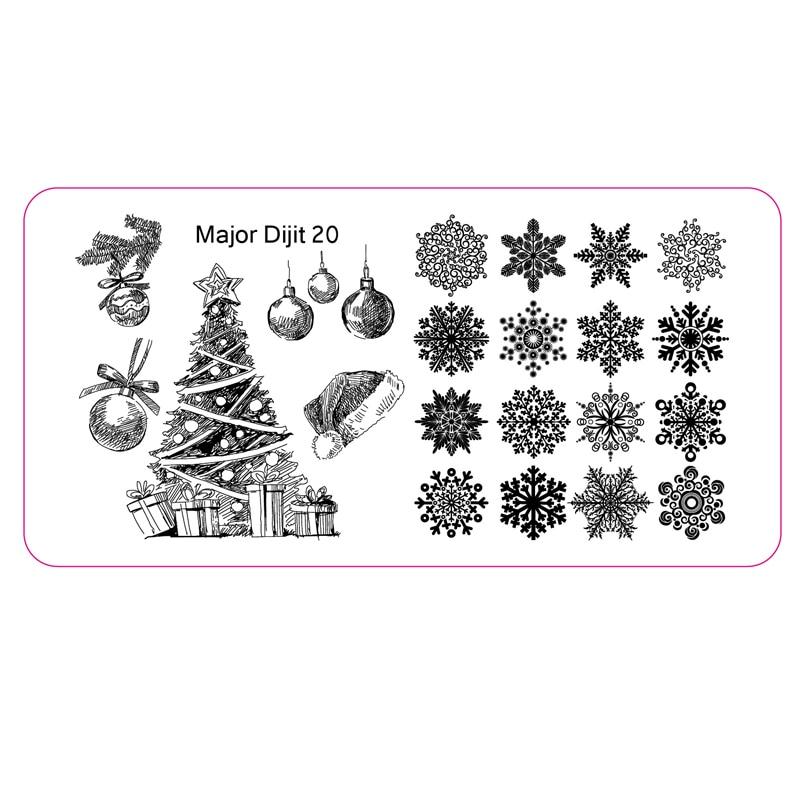 Christmas Image Stamp Template Xmas Tree Snowflake Nail Art Stamping - stamp template