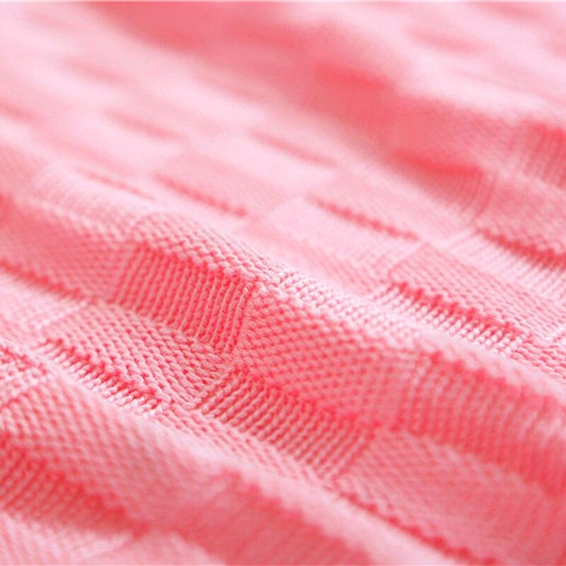 100% algodón tejido punto patrón alfombra sofá cama a cuadros verano ...