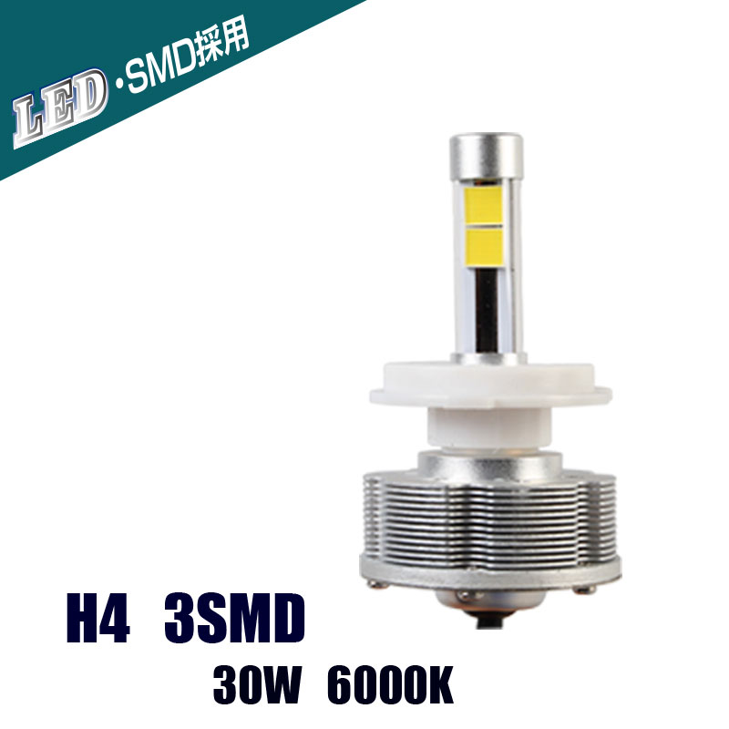 все цены на high quality new h4 led headlight car bulbs 42W 4000Lm External Lights H4 led headlight 6000K car-styling wholesale онлайн