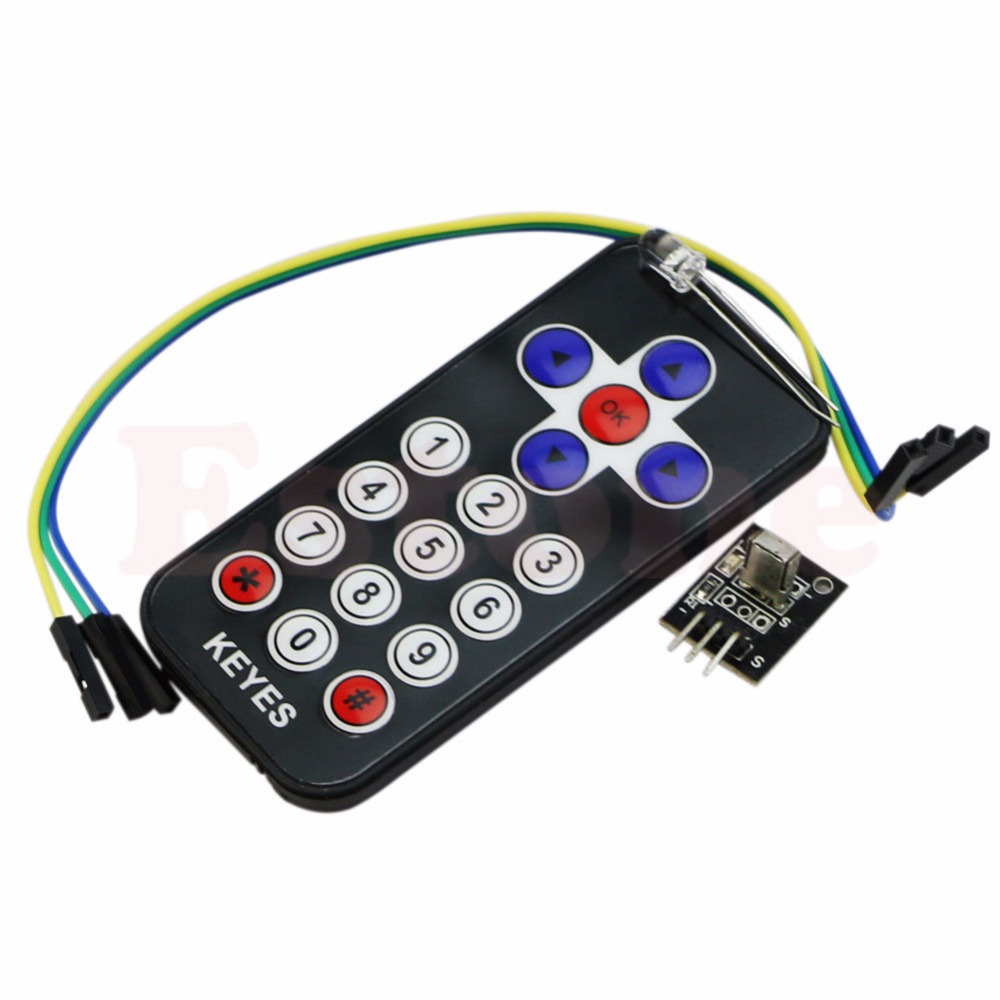 OOTDTY  Useful Infrared IR Wireless Remote Control Module Kits For Arduino AVR PIC New 5v 2 channel ir relay shield expansion board module for arduino with infrared remote controller