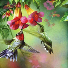 Moge Full round diamond painting Brids DiY embroidery birds on the flower Embroidery Cross Stitch Home Decor